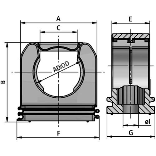 RQS tubing clamp system diagram
