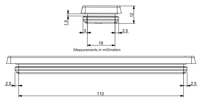DES-PM S Cable Entry Plate Diagram