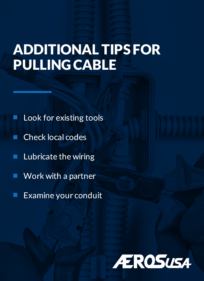 tips for pulling cable through conduit