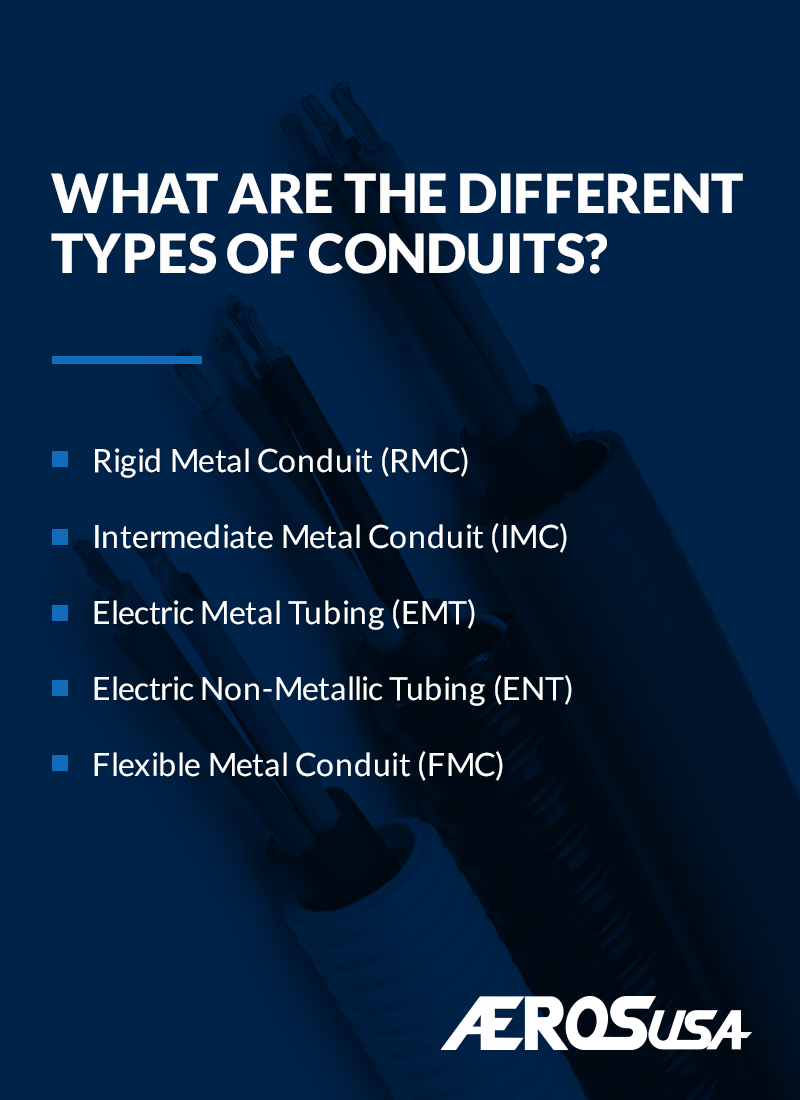 different types of conduits