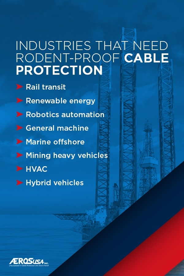 Industries That Need Rodent Proof Cable Protection
