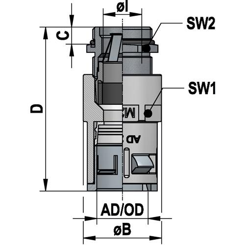 RQGKZED flexaquick fitting diagram