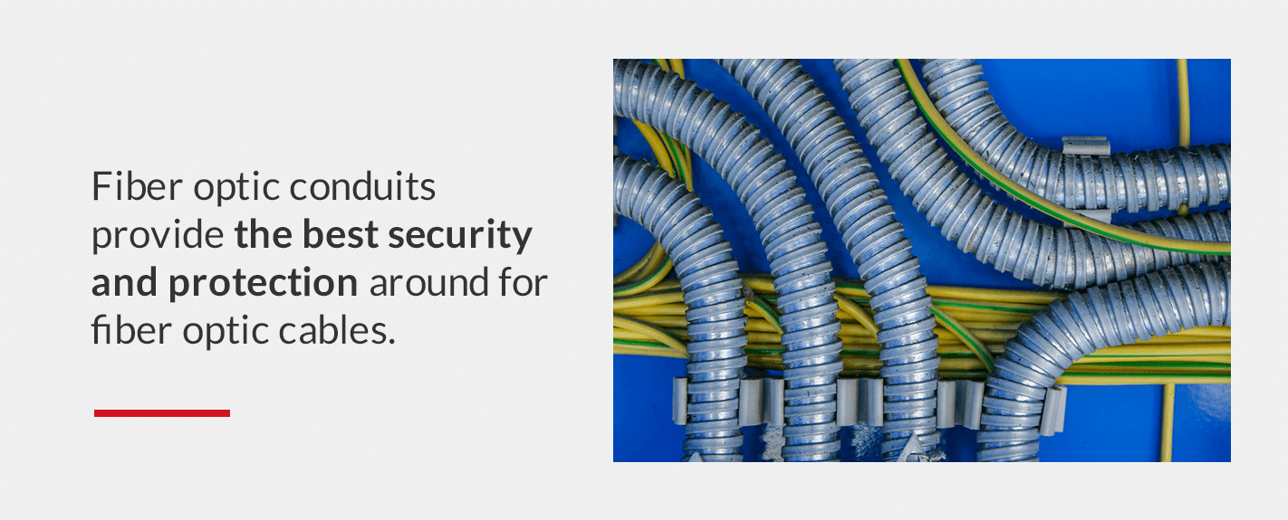 fiber optic conduits provide the best security and protection around for fiber optic cables