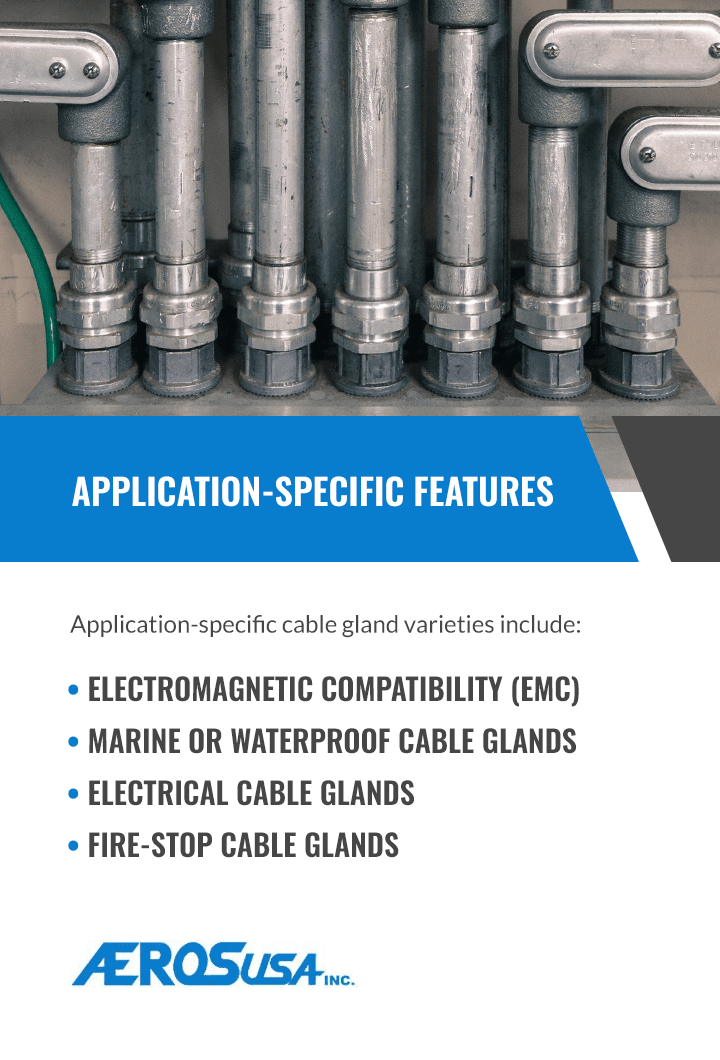 cable gland application features