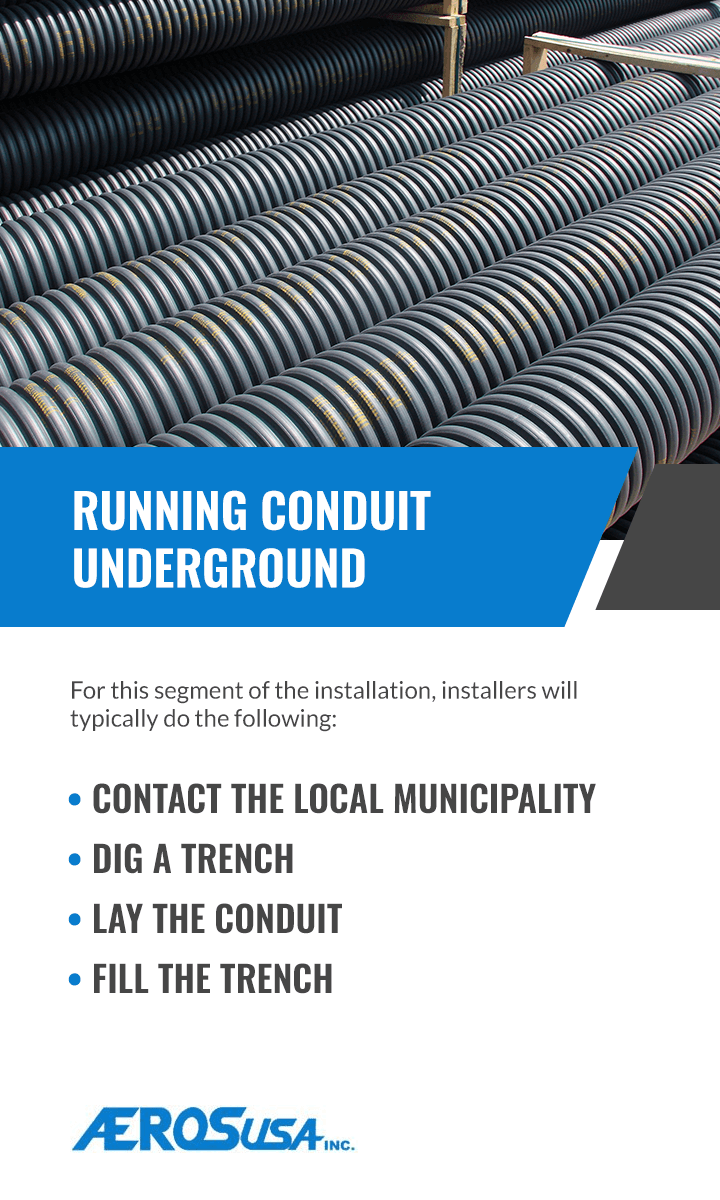 running conduit underground